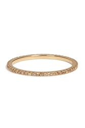 Carolina Bucci 18K Gold Pave Stacking Ring With Champagne Diamonds