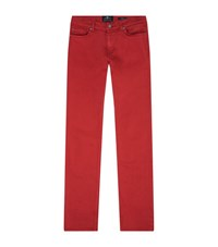 7 For All Mankind Ronnie Luxe Performance Skinny Jeans Male Tomato