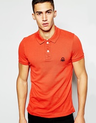 United Colors Of Benetton Pique Polo Shirt In Slim Fit Red33n