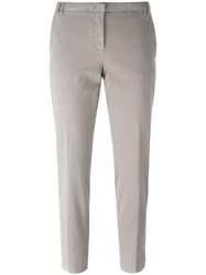 Fabiana Filippi Pleated Tapered Trousers Nude Neutrals