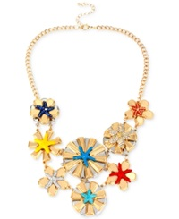 Macy's Haskell Gold Tone Colorful Starfish Frontal Necklace Multi