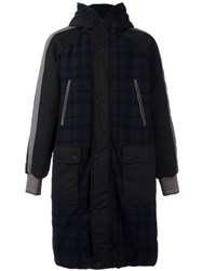 Andrea Pompilio Quilted Coat Blue