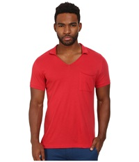 French Connection Lunar Jersey Polo Red Men's Clothing