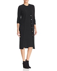 Bloomingdale's C By Ribbed Knee Length Cashmere Cardigan Black
