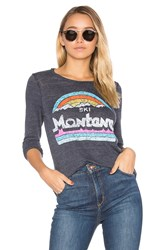 Chaser Montana Long Sleeve Tee Blue