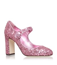 Dolce And Gabbana Esme Mj Sequin Pumps 90 Female Light Pink