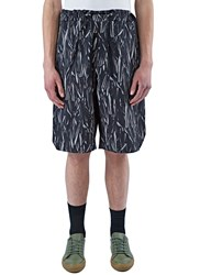 Marius Petrus Long Printed Drawstring Shorts Black