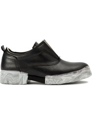 Oxs Rubber Soul Marble Sole Oxford Shoes Black