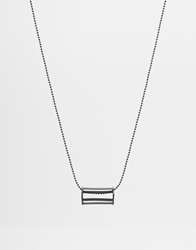 Asos Geometric Necklace With Circular Cage Pendant Black