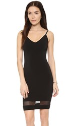 Air By Alice Olivia Cate Combo Mesh Tank Dress Black