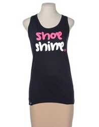 Shoeshine Sleeveless T Shirts Dark Blue