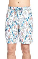 Men's Tommy Bahama 'Baja Take A Stand' Print Board Shorts Coconut