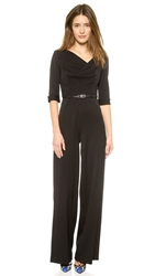 Black Halo 3 4 Sleeve Jackie Jumpsuit Black