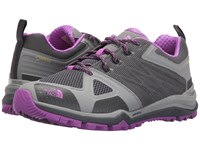 The North Face Ultra Fastpack Ii Gtx Zinc Grey Sweet Violet Women's Shoes Gray
