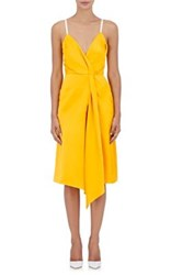 Victoria Beckham Women's Draped Satin Wrap Dress Yellow