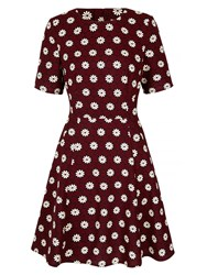 Yumi Daisy Printed Skater Dress Navy