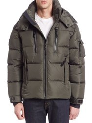 Sam. Quilted Goose Down Jacket Military Navy Gunmetal Black