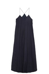 Tibi Perforated Dress Navy