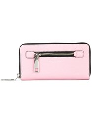 Marc Jacobs Large 'Gotham' Zip Around Wallet Pink Purple