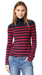 Equipment Wilder Turtleneck Sweater Peacoat French Red