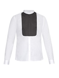 Mathieu Jerome Granddad Collar Bib Front Cotton Shirt