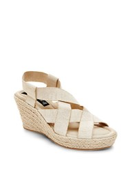 Steve Madden Janenn Espadrille Wedge Sandals White
