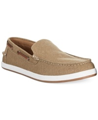 Tommy Hilfiger Irving Canvas Slip Ons Men's Shoes Khaki