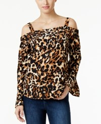 Thalia Sodi Animal Print Off The Shoulder Blouse Only At Macy's Leopard