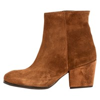 Unisa Lacon Western Ankle Boots Tobacco