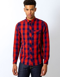 G Star G Star Wolker Overshirt Long Sleeve Victor Check Red