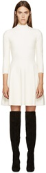 Alexander Mcqueen White Lace A Line Dress