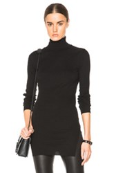 Helmut Lang Fitted Turtleneck Sweater In Black