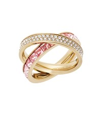 Michael Kors Pave Gold Tone Eternity Ring