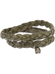 Riccardo Forconi Weaved Bracelet Green