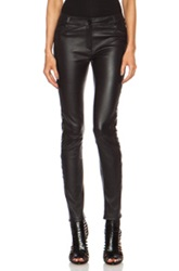 Each X Other Quilted Slim Leather Trouser In Black
