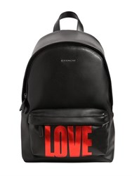 Givenchy Small Love Printed Leather Backpack