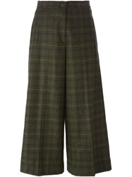 I'm Isola Marras Isola Marras Wide Leg Cropped Trousers Green