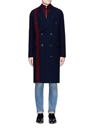 Paul Smith Houndstooth Stripe Wool Coat Multi Colour
