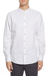 I Love Ugly Mandarin Collar Shirt White Oxford