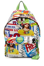 Moschino Pop Culture Printed Backpack Multicolor