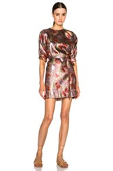 Isabel Marant Wensley Firework Dress In Metallics Abstract Pink Red