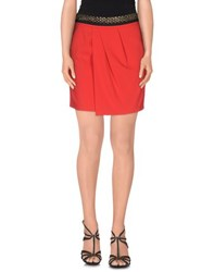 Atos Lombardini Skirts Mini Skirts Women Red