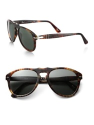Persol Retro Keyhole Sunglasses Cafe Tortoise Blue
