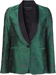 Christian Pellizzari Shawl Smoking Jacket Green