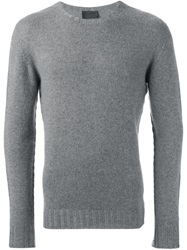 Les Hommes Crew Neck Sweater Grey