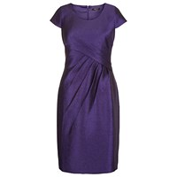 Precis Petite Crinkle Ruched Detail Shift Dress Purple