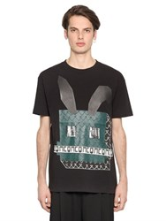 Mcq By Alexander Mcqueen Electro Bunny Printed Jersey T Shirt