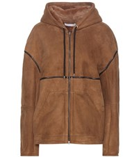 Ines And Marechal Adour Shearling Lined Suede Jacket Brown