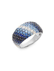Effy Blue Sapphire And Sterling Silver Ring Silver Blue