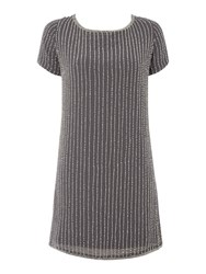 Label Lab Glass Bead Scoop Back Dress Grey